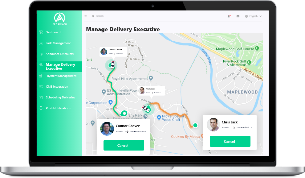 Manage Delivery Executive